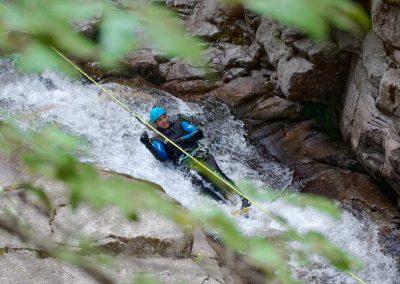Toboggan guidé dans le Canyon du Tapoul
