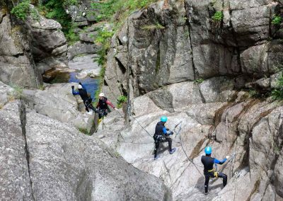 Via corda et saut dans le Canyon du Tapoul