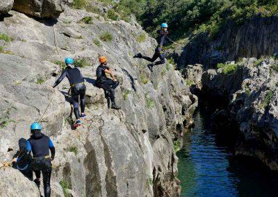 grand saut en canyoning