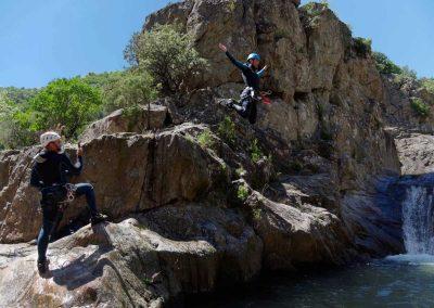 Saut dans le Canyon du Rec Grand