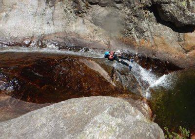 Toboggan dans le Canyon du Rec Grand