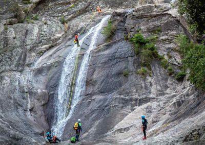 Grand rappel dans le canyon du Torrent d'Albine