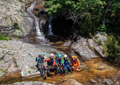 Photo de groupe dans le canyon du Torrent d'Albine