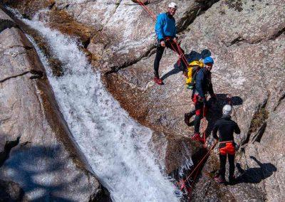 Main courante dans le Canyon du Vialais