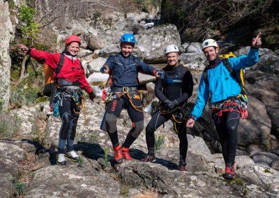 Photo de groupe au départ du Canyon du Vialais