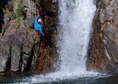 Descente en rappel dans le Canyon du Vialais