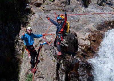 Au relais dans le Canyon du Vialais